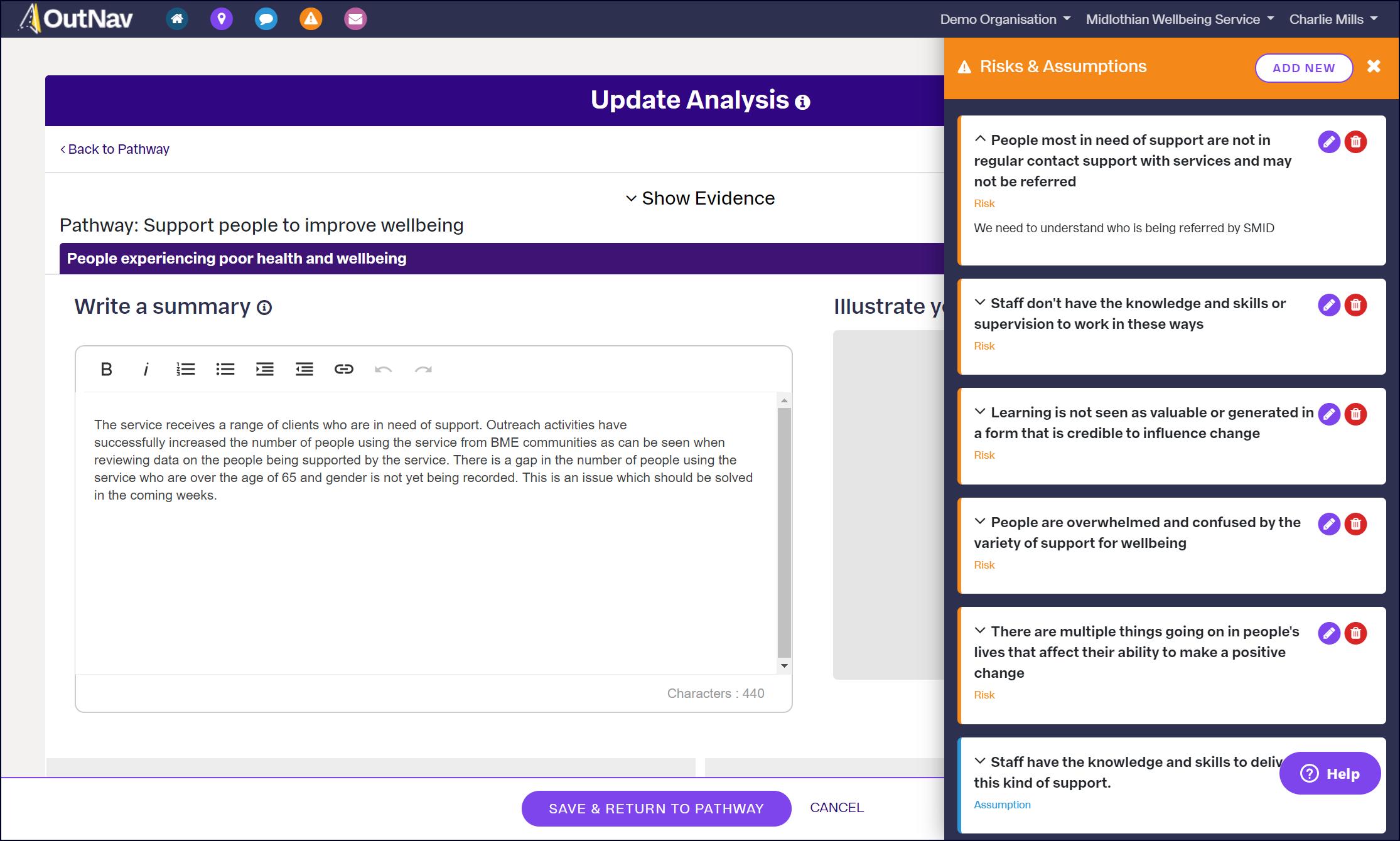 A screenshot of software