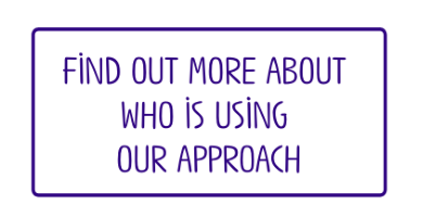 Text reads: Find out more about who is using our approach