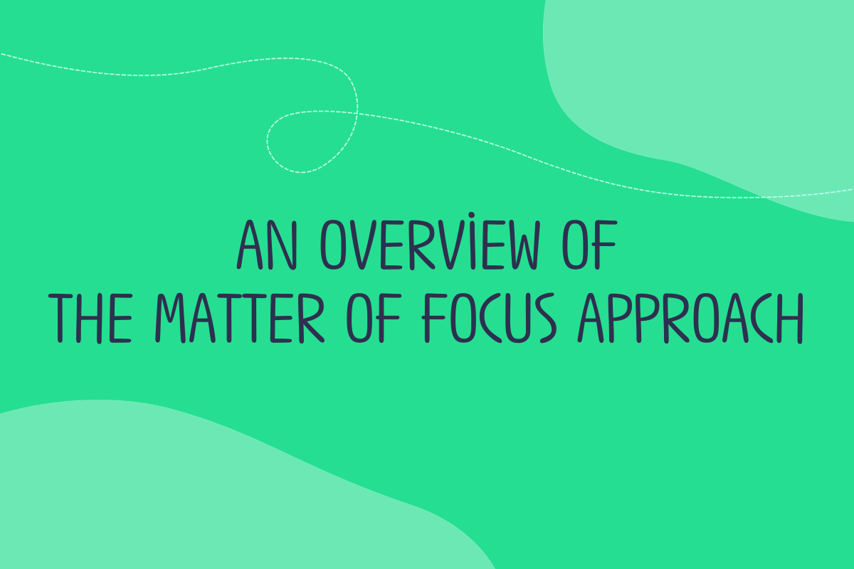 Text reads: An overview of the Matter of Focus approach