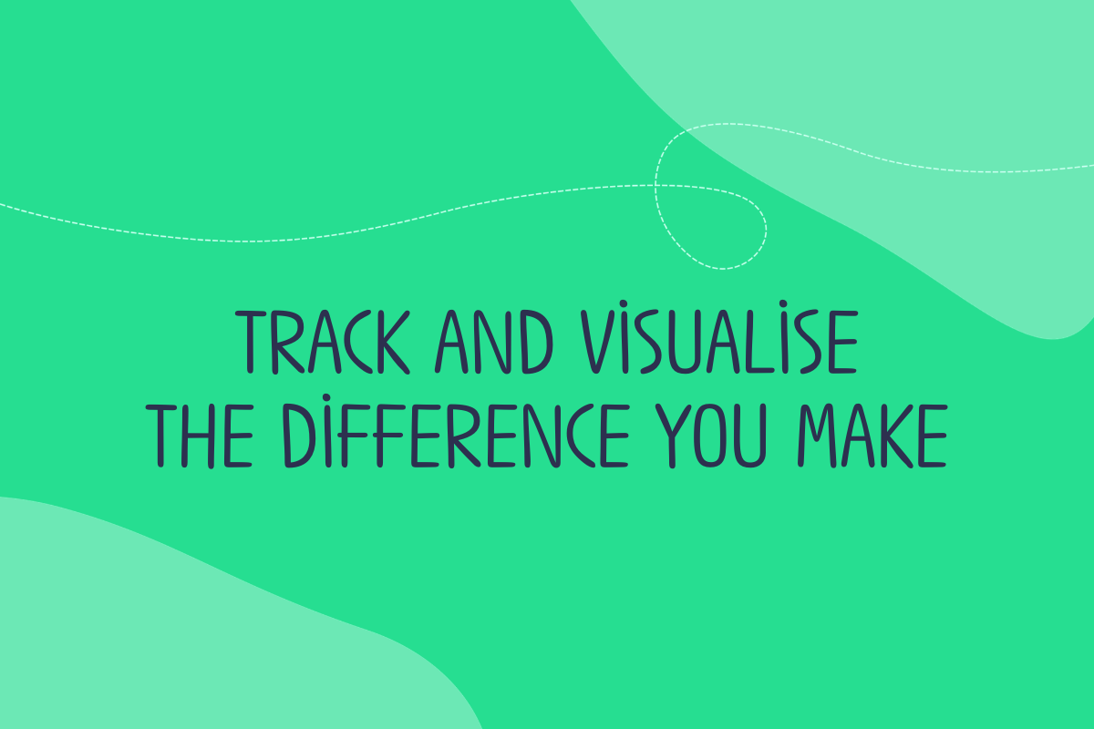 Text reads: rack and visualise the difference you make