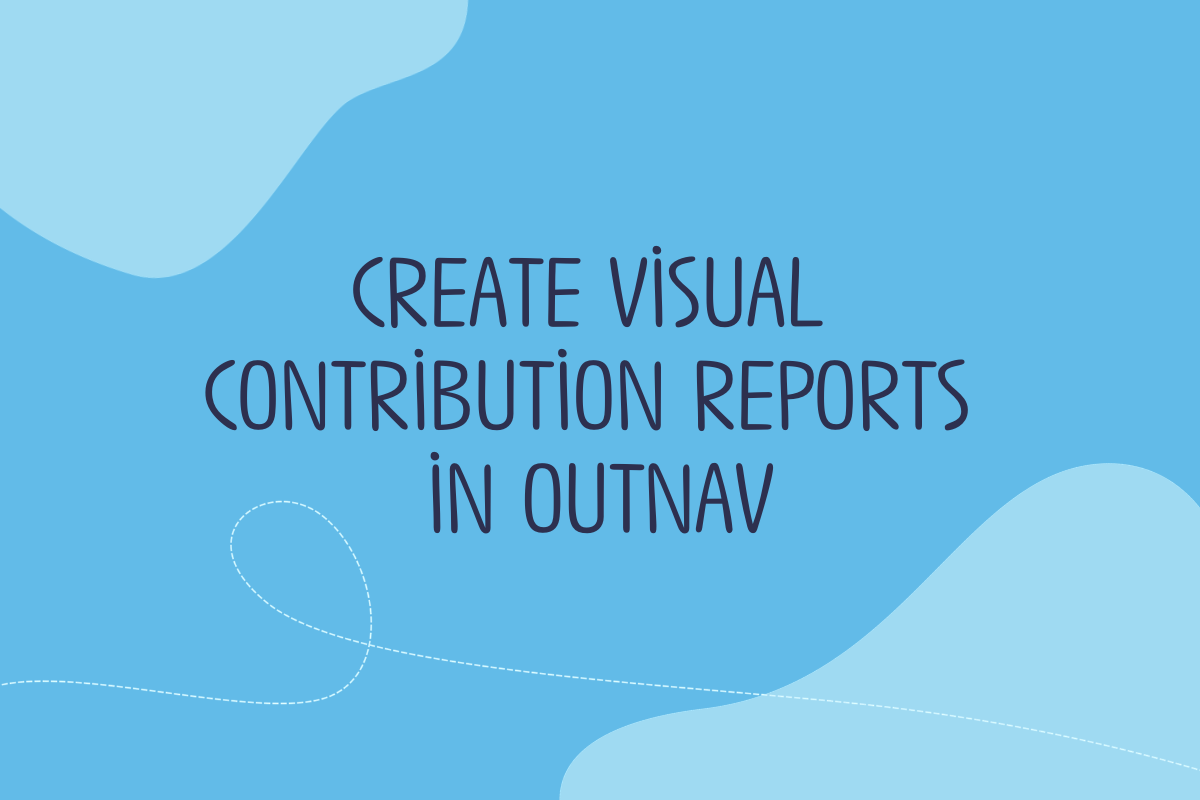 Text reads: Create visual contribution reports in OutNav