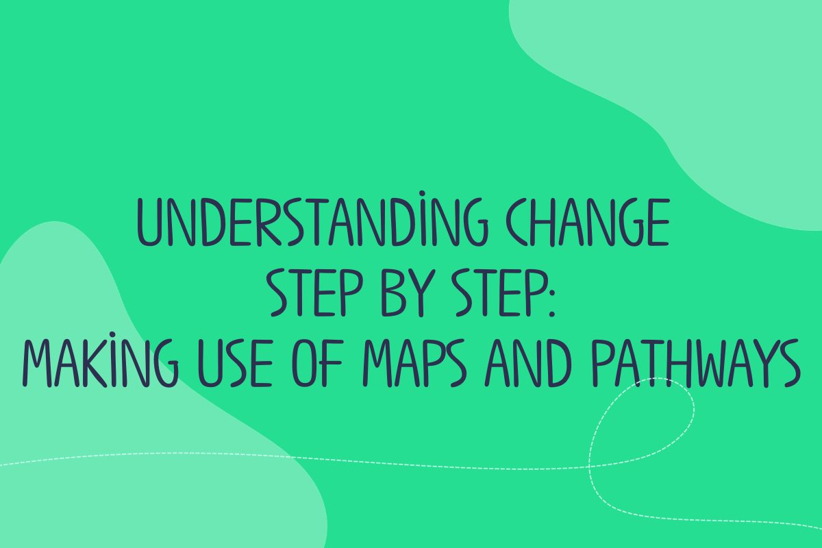 Text reads Understanding change step by step - making use of maps and pathways