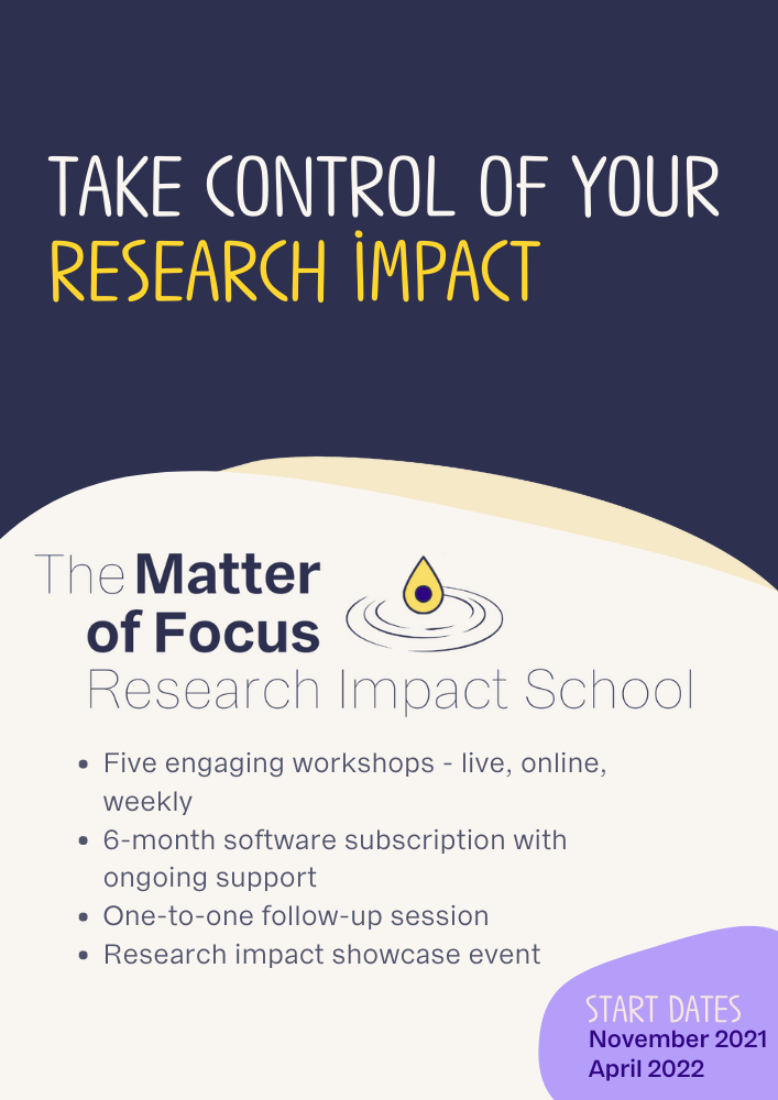 Image of Research Impact School brochure cover