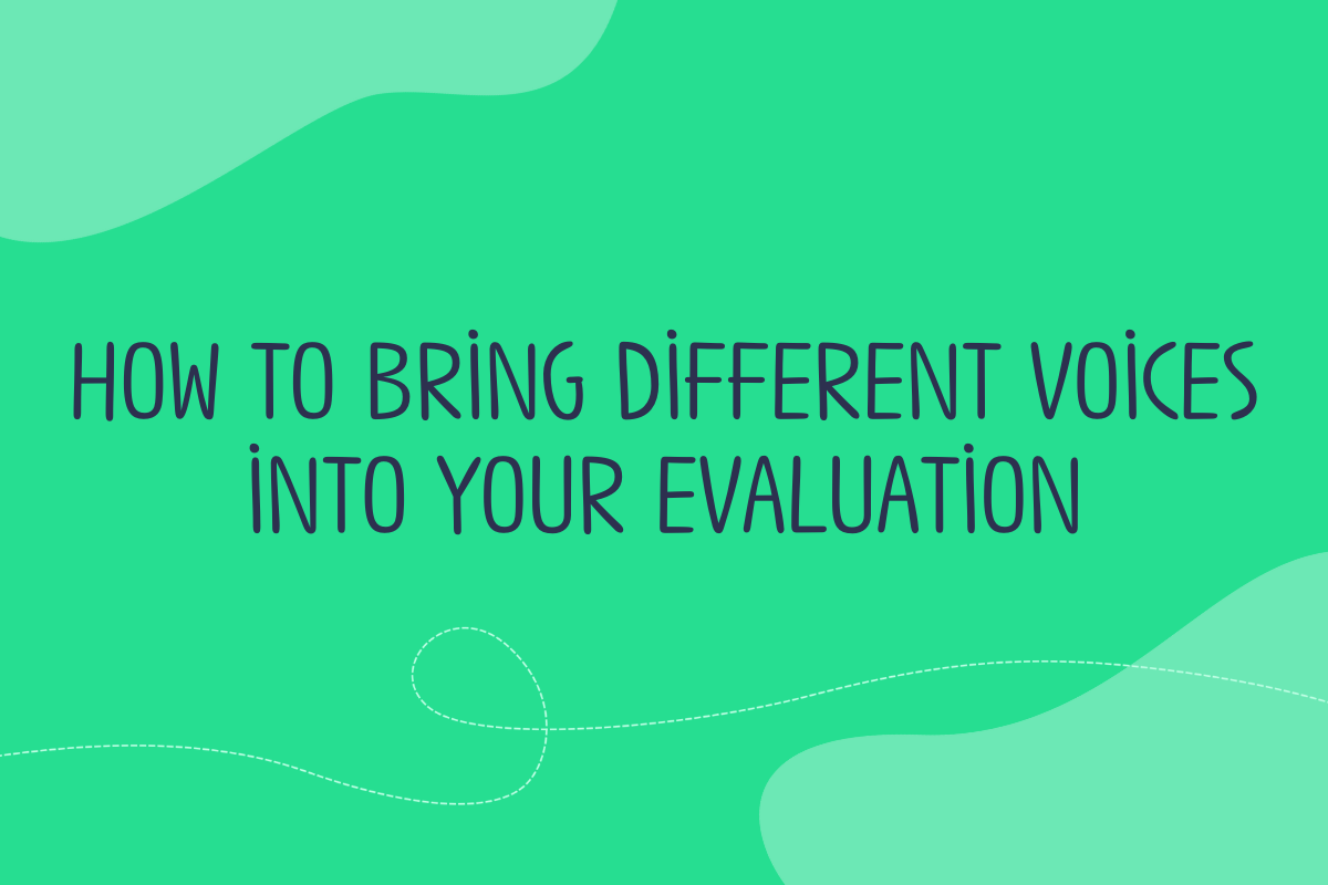 Text of blog post title reads: How to bring different voices into your evaluation
